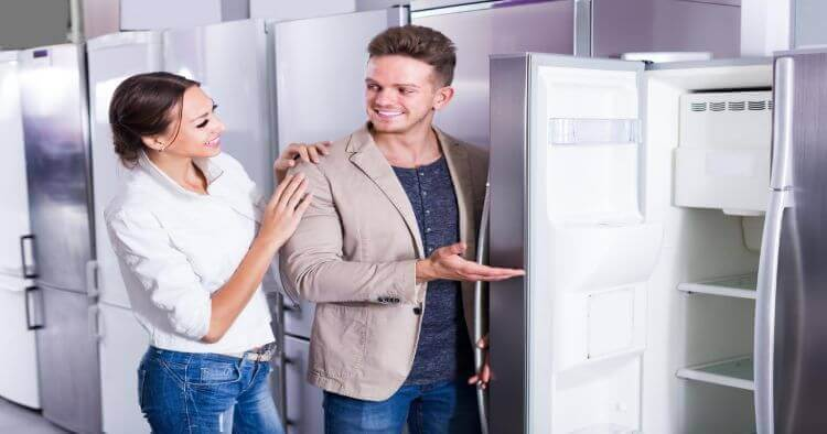 Couple Buying Fridge