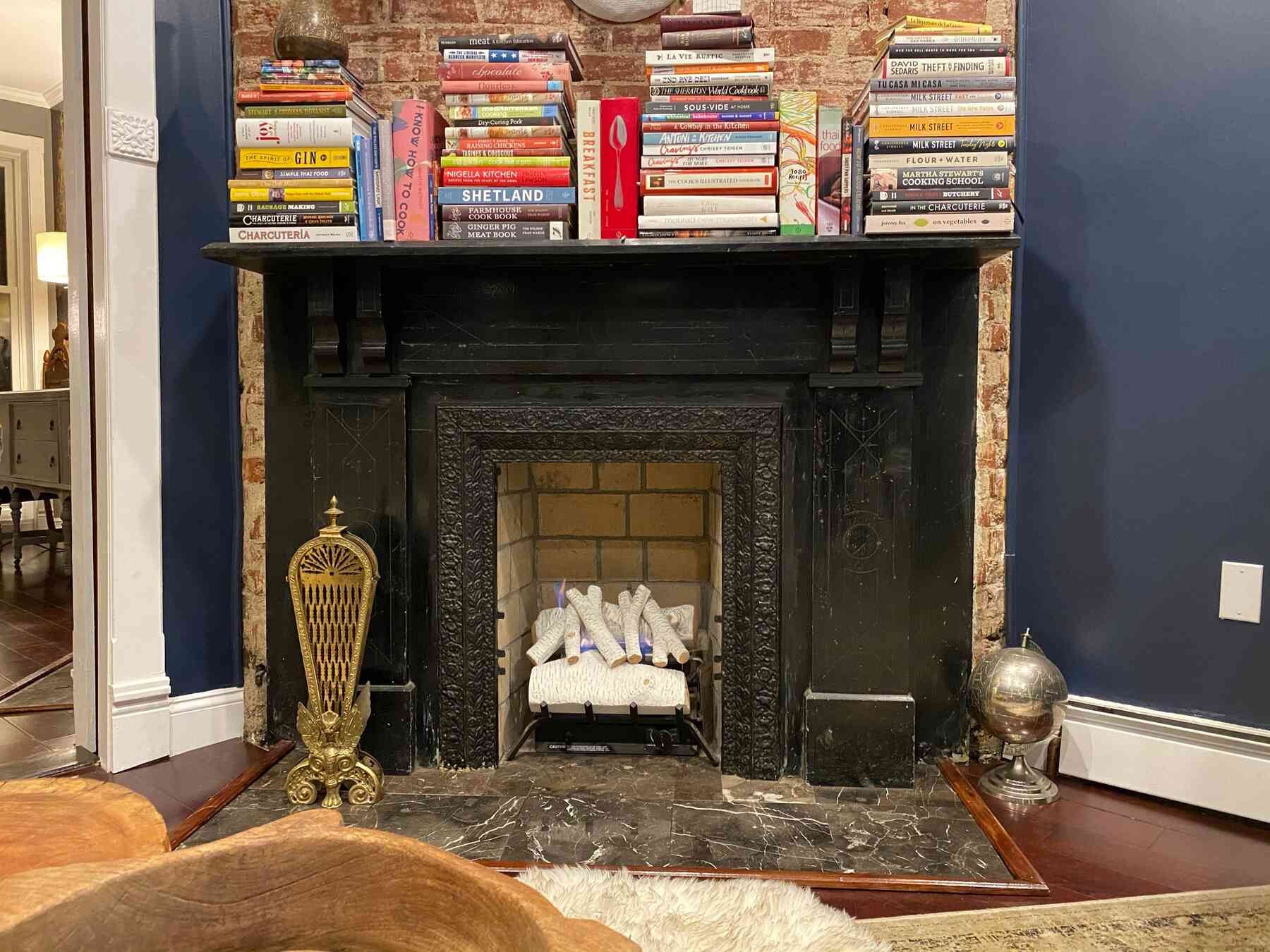 ventless fireplace and mantle