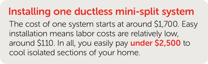 Cost to Install Ductless Mini-Split System