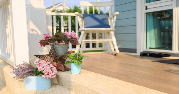 Front porch Spring decor