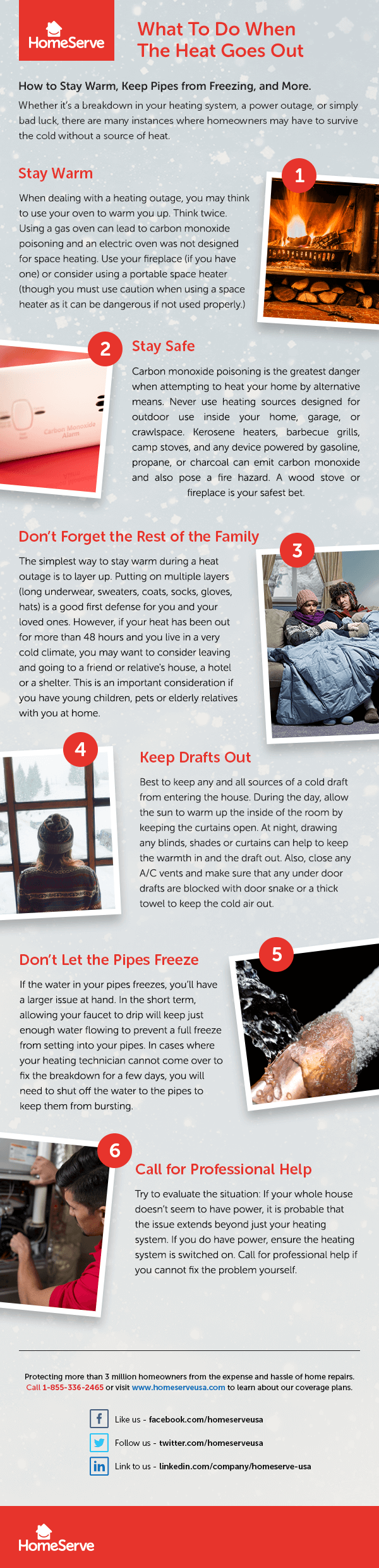 6 tips for staying safe and warm during a power outage or heating system failure