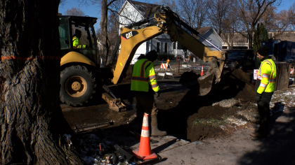 water and sewer line repairs