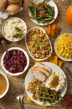 Thanksgiving Table Entrees