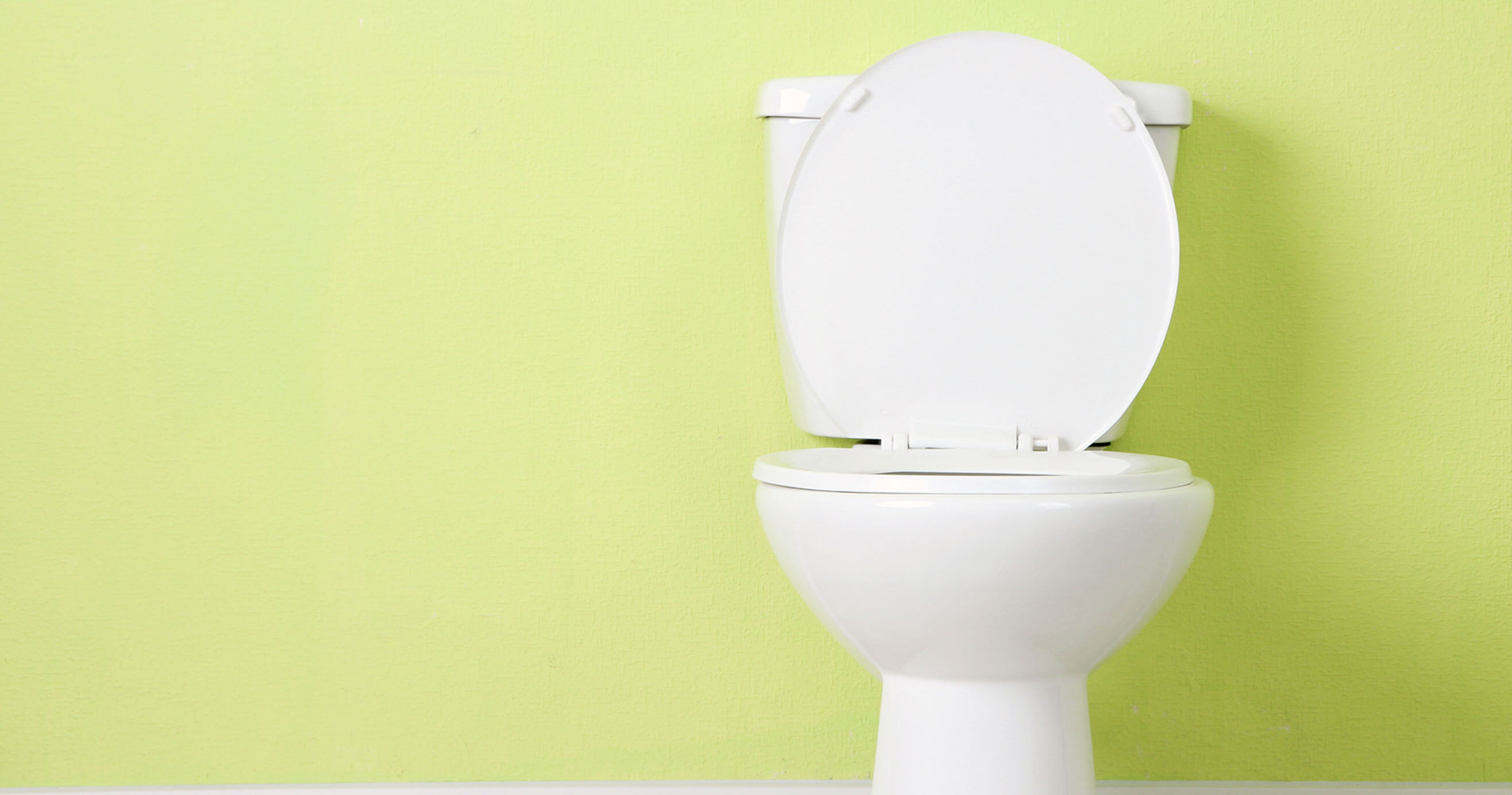 Toilet with green background
