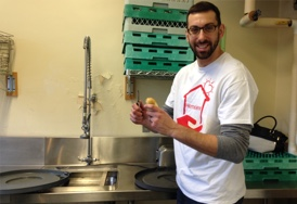 HomeServe employee, Eric West, volunteering at Operation Hope in CT.
