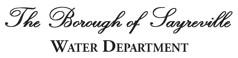 The Borough of Sayreville Water Department Logo