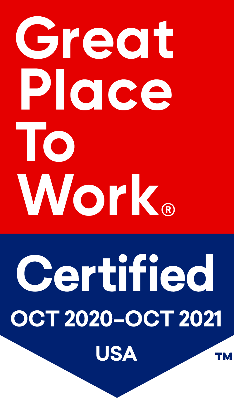 Great Places to Work for Oct 2020 - Oct 2021 Badge