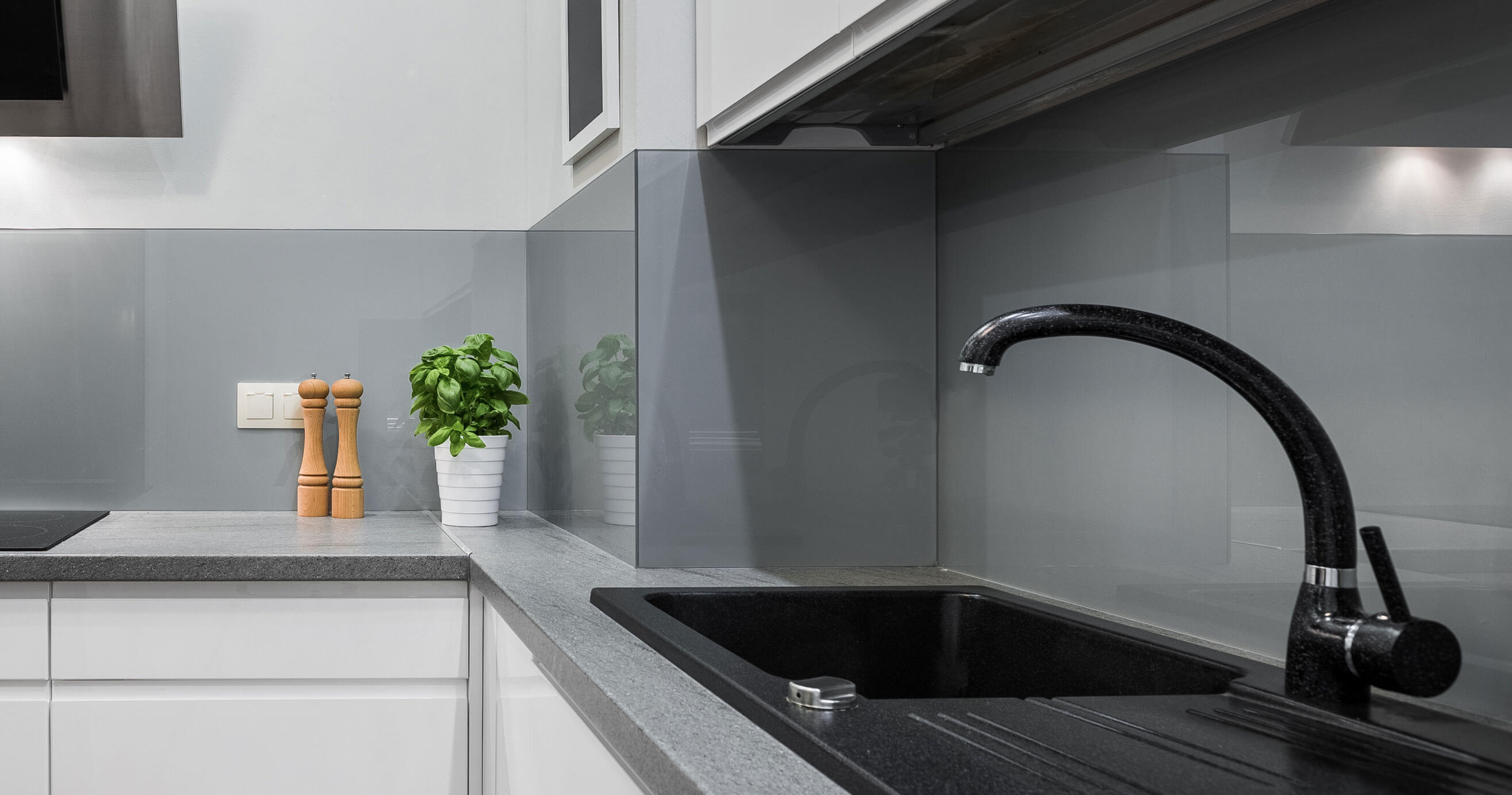 View of sink in a kitchen