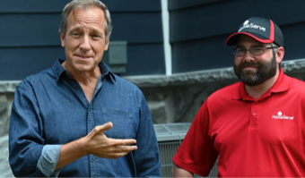 Mike Rowe and HomeServe Technician