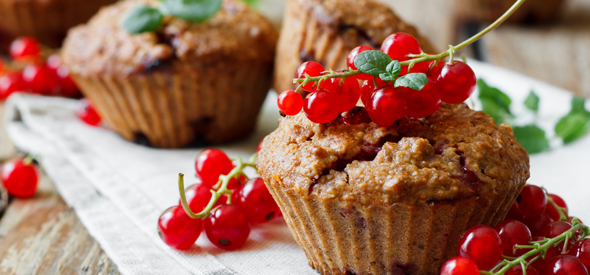 Healthy muffins with fruit