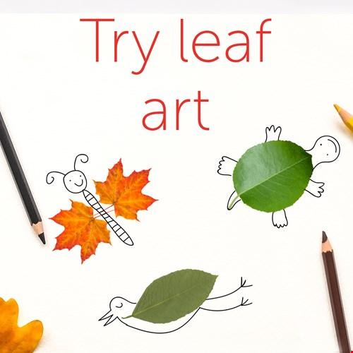 Leaf art graphic