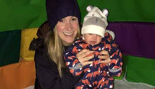 Rachael Bland with baby