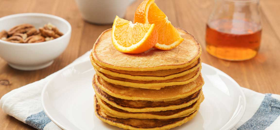 Orange and cinnamon pancakes