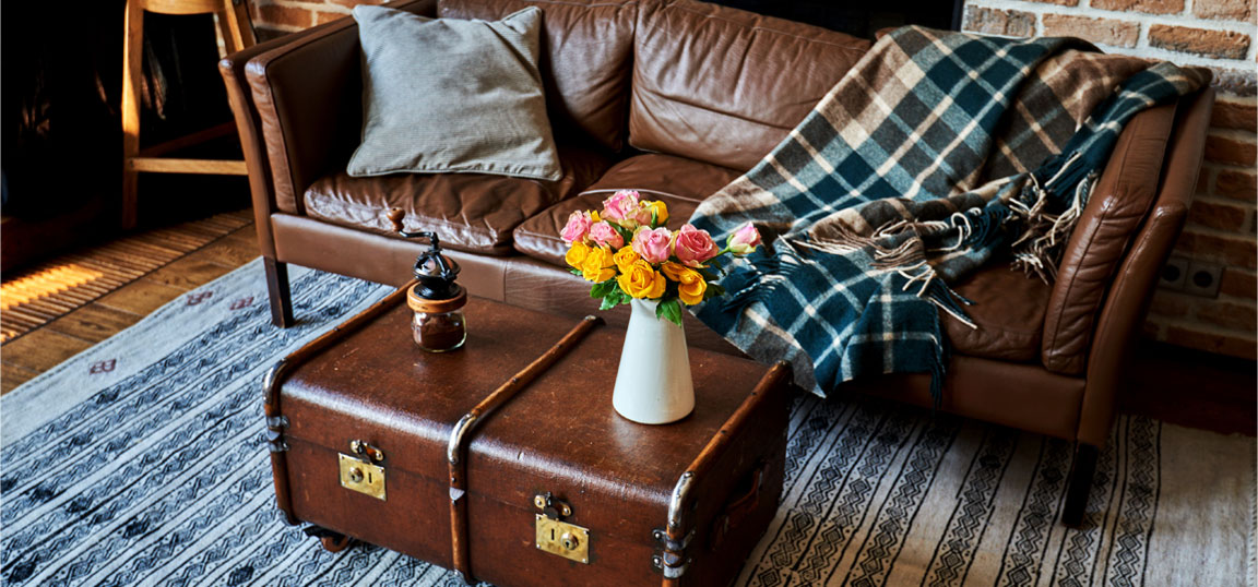 Vintage chest coffee table
