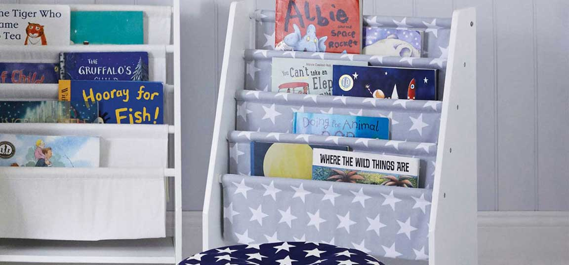 Canvas bookshelf