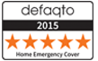 Defaqto 2015 Five star rated cover banner