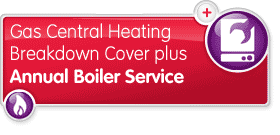 Gas Central Heating Cover plus Annual Boiler Service
