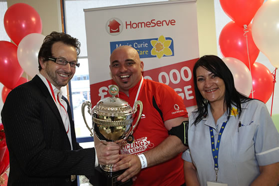HomeServe Cycle Challenge King of the Road trophy