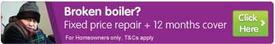 Broken boiler? Fixed price repair and 12 months cover. Click here