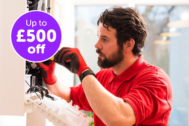 Up to £500 off your new boiler for HomeServe customers