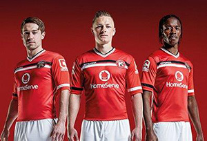 Walsall players in new kit