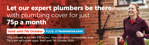 Plumbing cover for just 75p a month