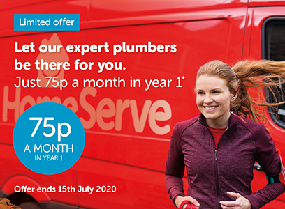 Limited offer - Let our plumber experts be there for you. Just 75p a month for year 1