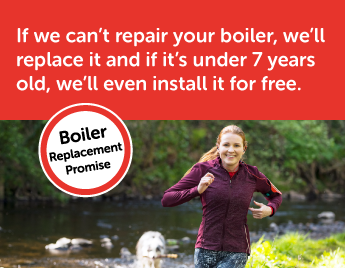 If we can't repair your boiler, we'll replace it and if it's under 7 years old, we'll even install it for free. | available on policies that cover your gas boiler