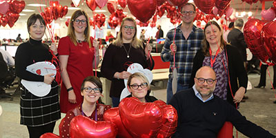 HomeServe employees on Valentine