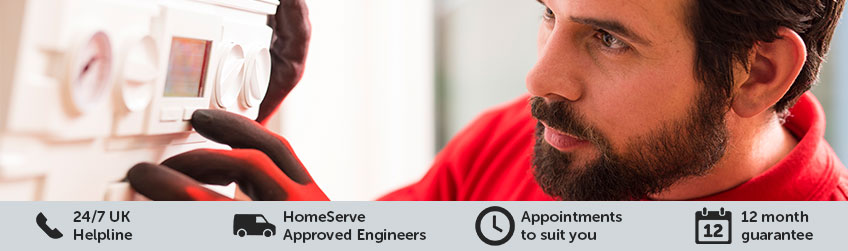 HomeServe Approved Gas Safe Registered Engineer fixing boiler